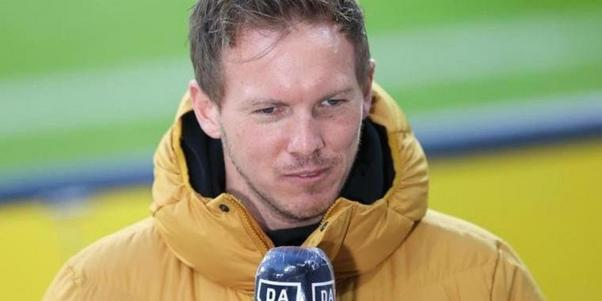 Leipzigs Trainer Julian Nagelsmann beim Interview. Foto: Jan Woitas/dpa-Zentralbild/dpa