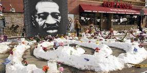 Ein Wandbild von George Floyd in Minneapolis. Foto: Jim Mone/AP/dpa