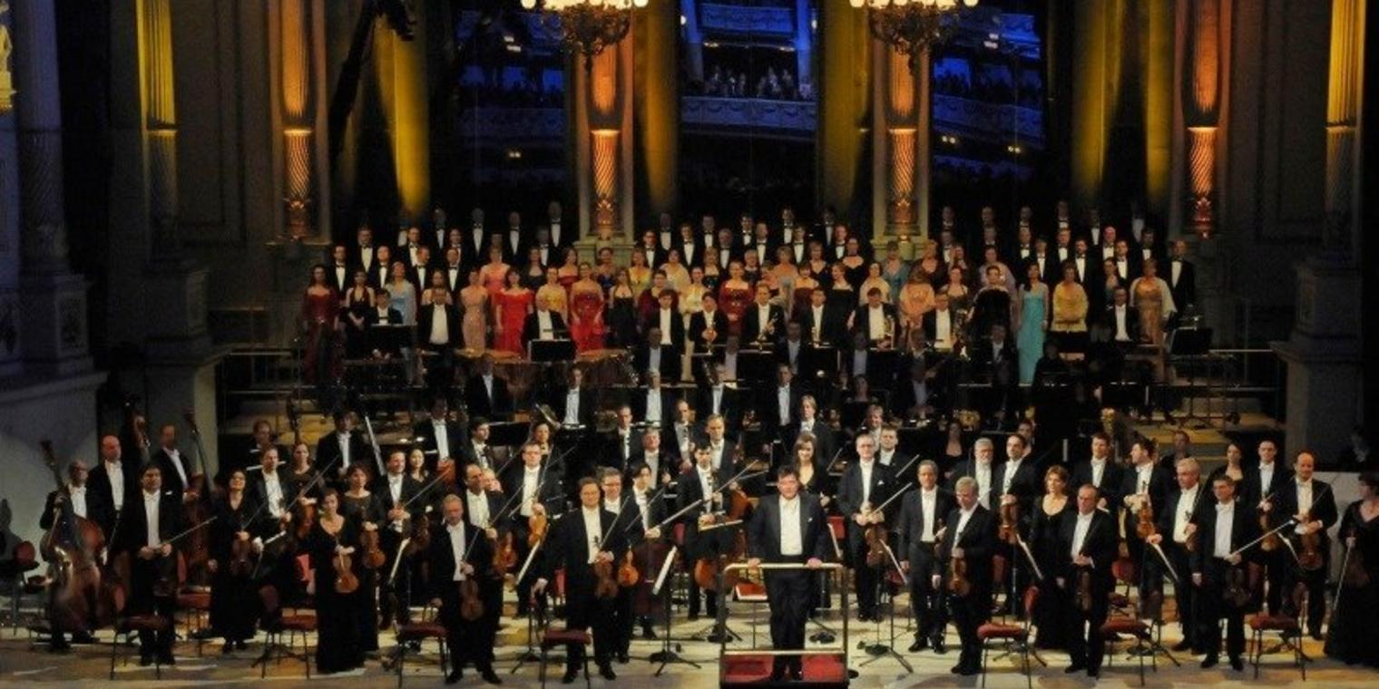 Silvesterkonzert in der Semperoper in Dresden.