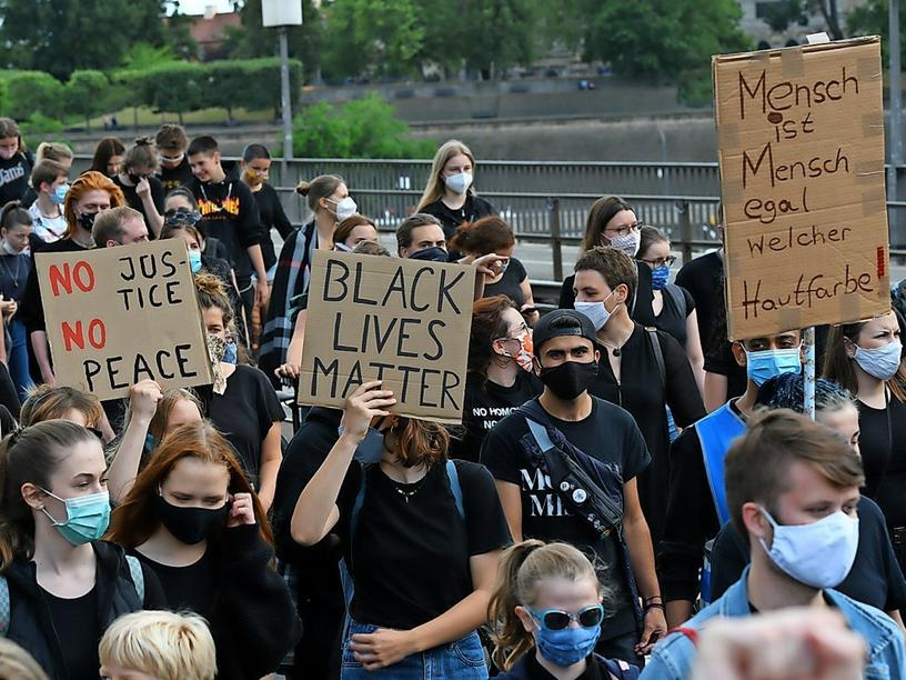Impressionen von der Black Lives Matter Demonstration am 12. Juli 2020 in Dresden