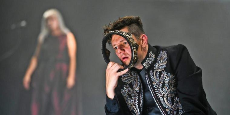 "Christian Friedel in ""Searching for Macbeth""."