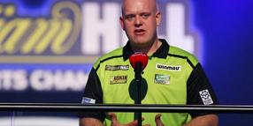 Bleibt vorerst in London: Darts-Star Michael van Gerwen.