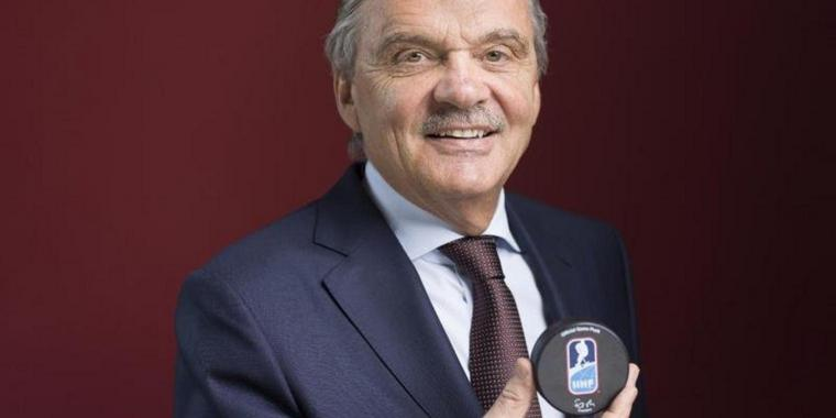 Rene Fasel, Präsident der Internationalen Eishockey-Föderation, IIHF.