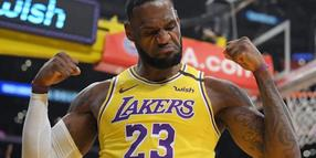 LeBron James von den Los Angeles Lakers ist der Superstar der NBA.