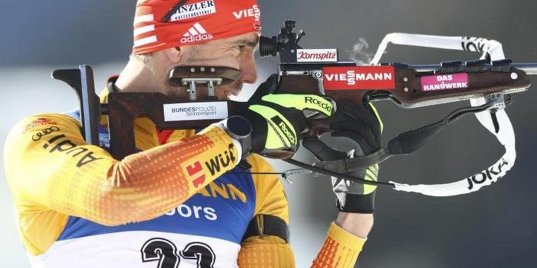 Bester Deutscher beim WM-Sprint in Antholz: Arnd Peiffer.