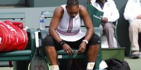 Erschöpft: Serena Williams in Indian Wells.