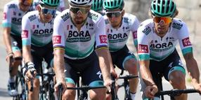 Das Team Bora-hansgrohe beim Training vor dem Start der 107. Tour de France.
