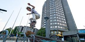 Rathaus-Open: Skateboard-Contest am Hiroshimaplatz.