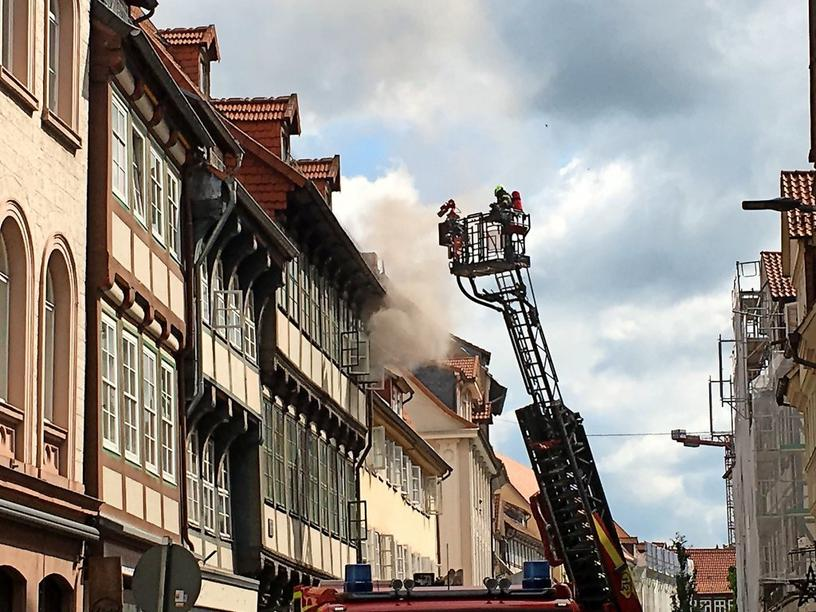 Brand in der Roten Straße in Göttingen