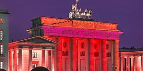 "So soll das Brandenburger Tor in der ""Night of Light"" aussehen."