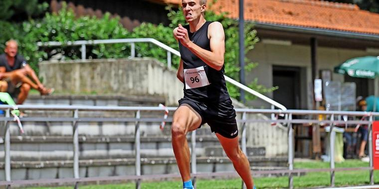 Luis Oberbeck beim Meeting in Osterode im Sommer.