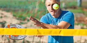 Andre Pfitzner vom SC Hainberg war den 5. Beachtennis Open in Göttingen mit am Start.