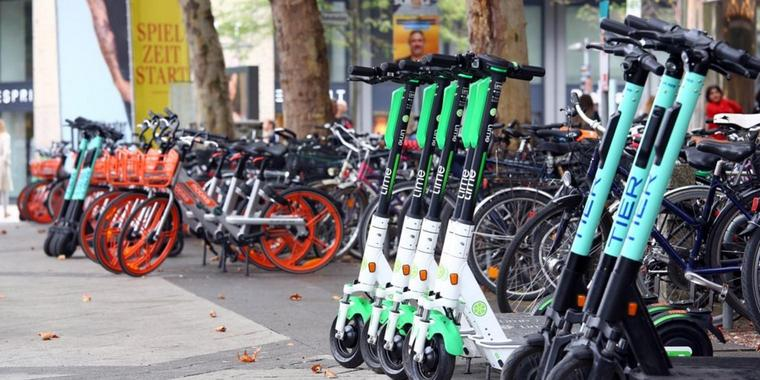 Umstritten: E-Scooter in Hannover.