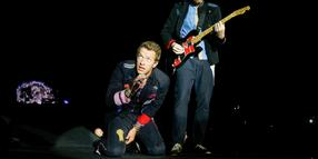 Coldplay in der AWD Arena. Hannover am 25.August 2009.