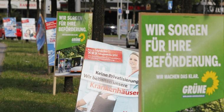 Foto: Wahlplakate in Hannover