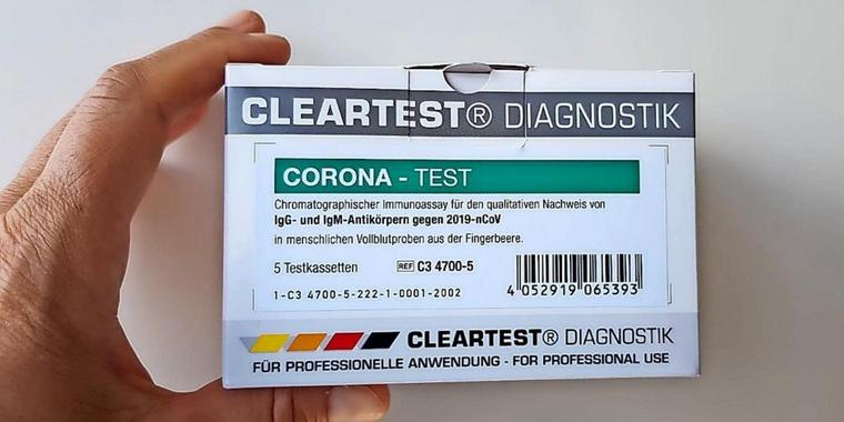 Corona-Antikörpertest Cleartest.