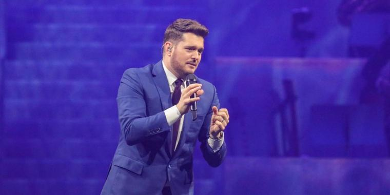 Schmachtend: Michael Bublé in Hannover.