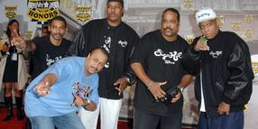 "Foto: The Sugarhill Gang, darunter der verstorbene Henry Lee Jackson alias ""Big Bank Hank"" (rechts)."