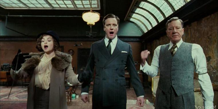 "Colin Firth (Mitte) spielt in ""The King's Speech"" den stotternden Monarchen George VI."