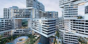 "Wohnkomplex ""The Interlace"" in Singapur."