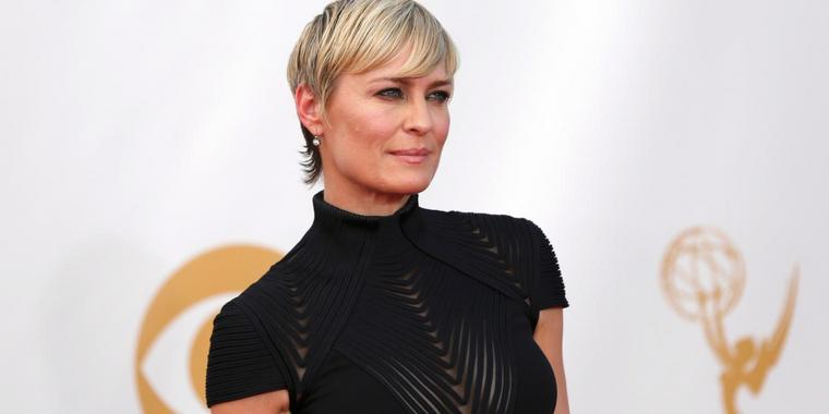 "Foto: Robin Wright spielt die weibliche Hauptrolle in der Internetserie ""House of Cards""."