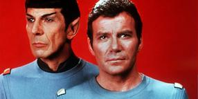 Foto: William Shatner (r.) als Captain James T. Kirk und Leonard Nimoy als Mr. Spock (Archivfoto aus dem Jahr 1979).
