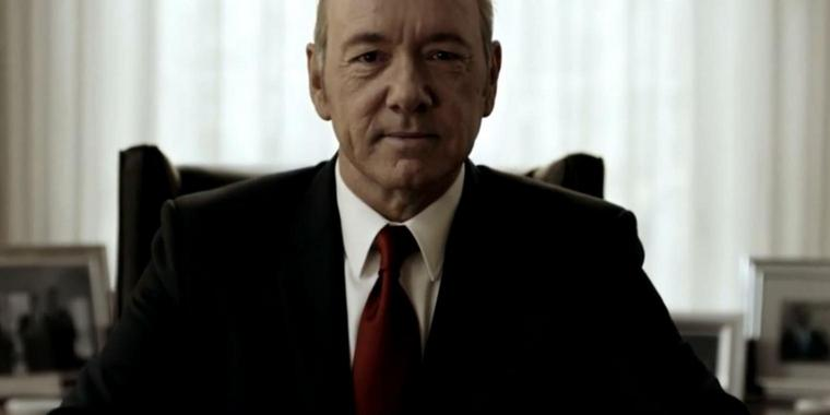 Foto: Frank Underwood im Trailer zur vierten Staffel der Netflixserie House of Cards.