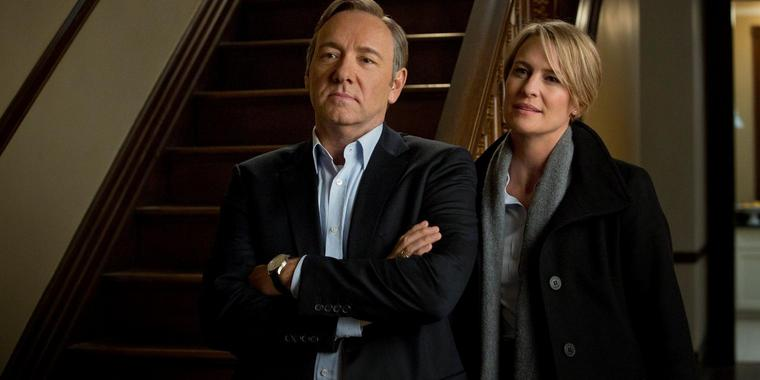 "Perfide Machtspiele in Washington: SAT.1 zeigt den US-Serienhit ""House of Cards"" ab 10. November 2013, um 23:15 Uhr."