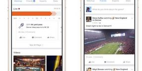"Foto: Screenshots des neuen Facebook-Dienstes ""Facebook Sports Stadium""."