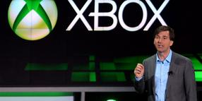 Foto: Microsoftmanager Don Mattrick bei der Xbox Präsentation auf der Electronic Entertainment Expo in Los Angeles.