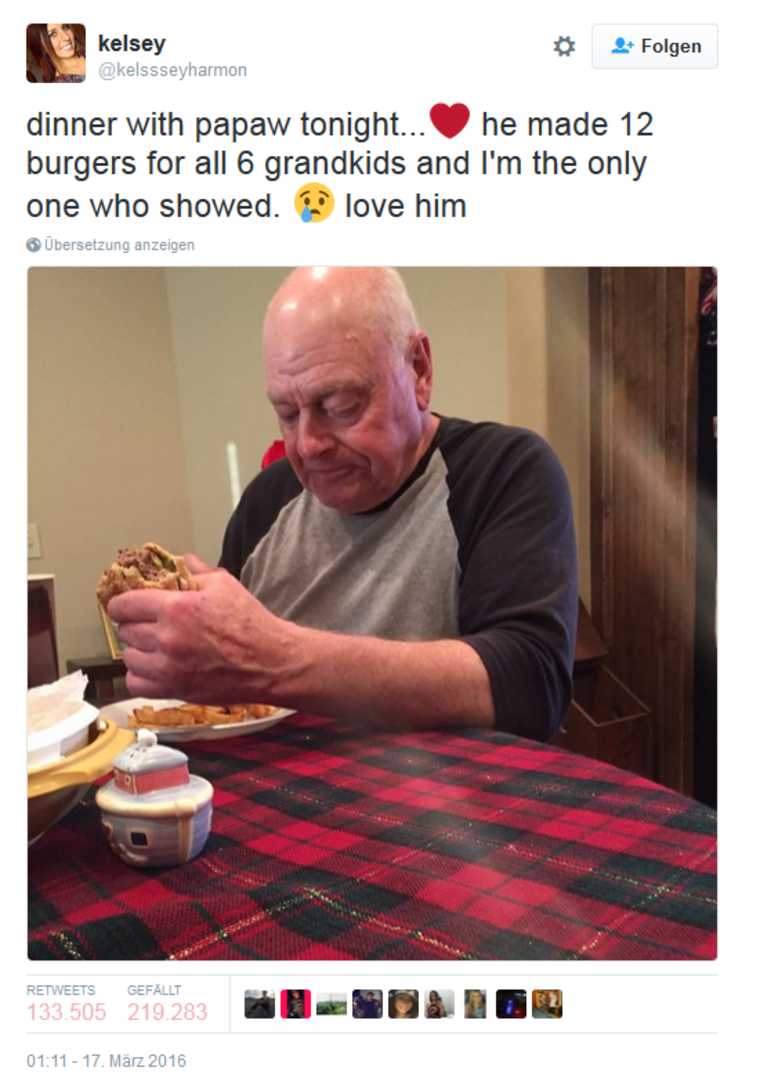 2016-03-18 16_53_39-kelsey auf Twitter_ _dinner with papaw tonight...❤️ he made 12 burgers for all 6