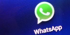 Foto: Logo des Instant-Messaging-Dienstes WhatsApp.