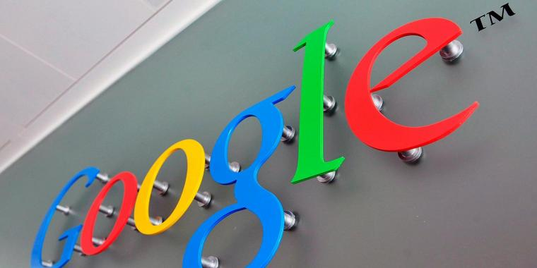 Foto: Google-Logo an Firmengebäude in London