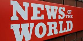 "Foto: Logo der ""News of the World""."