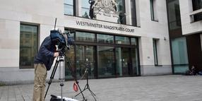 Foto: Der Blick auf den Westminster Magistrates Court in London.