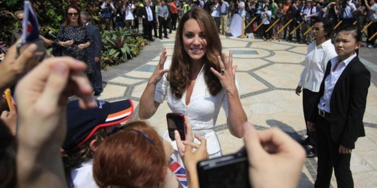 Kate bei 'Gardens by the Bay' in Singapore.