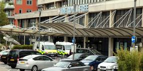 Foto: Das Royal Free Hospital in London ist bereit Ebola-Patienten zu behandeln.