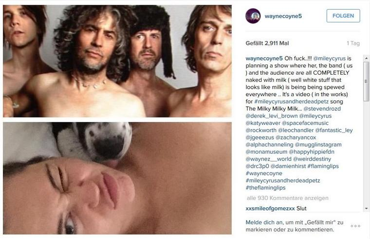 """2015-10-14 20_54_04-Wayne Coyne auf Instagram_ """"Oh fuck..!!! @mileycyrus is planning a show where he"""