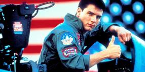 "Tom Cruise als Kampfpilot in ""Top Gun"""