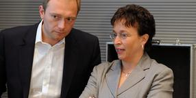 Christian Lindner und Birgit Homburger.