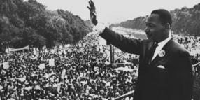"Vor 50 Jahren hielt Martin Luther King seine berühmte ""I have a dream""-Rede am Lincoln-Memorial."