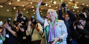 Claudia Roth beim Parteitag in Hannover.