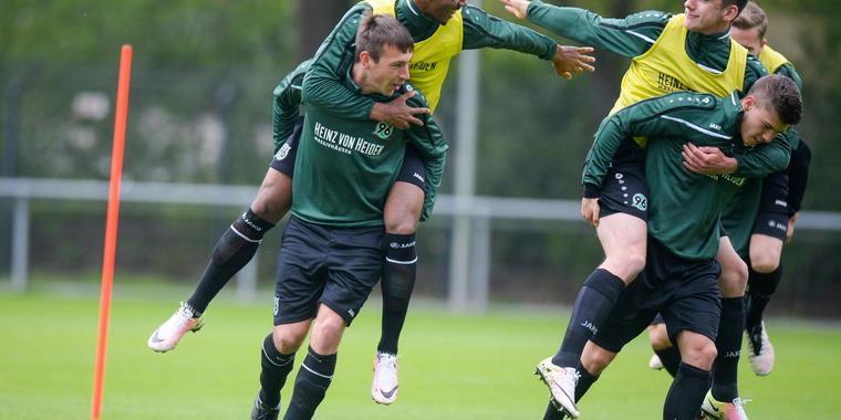 Training bei Hannover 96.