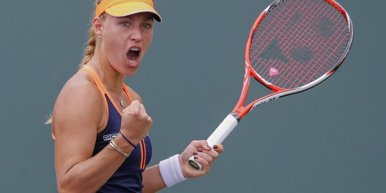 Foto: Hat ihre Kollegon Andrea Petkovic beim WTA Turnier in Charleston besiegt: Angelique Kerber.