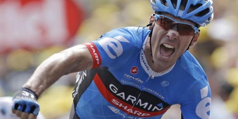 Foto: David Millar gewinnt längste Tour de France Etappe.