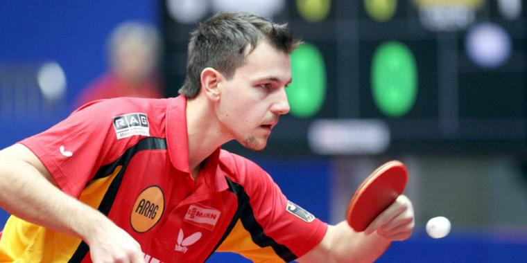Foto: Timo Boll hat alles im Griff.