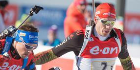 Arnd Peiffer beim World Cup Biathlon in Canmore am 7.Februar 2016.