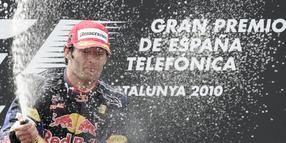 Red-Bull-Pilot Mark Webber gewinnt in Spanien.