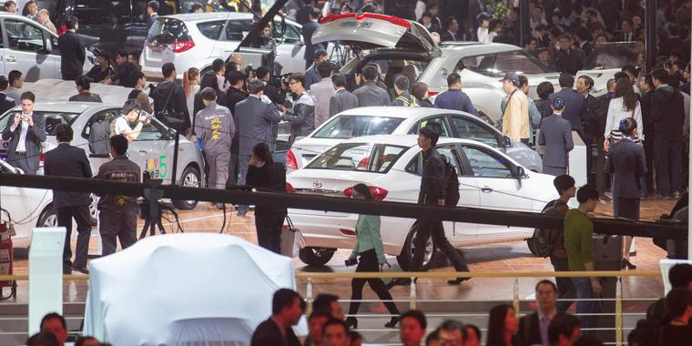 Foto: Der Automarkt in China boomt.