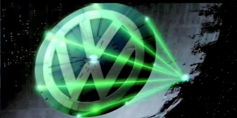 Screenshot des Greenpeace-Videos: VW-Todesstern.